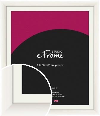 Arc High Gloss White Picture Frame & Mount, 50x60cm (VRMP-742-M-50x60cm)