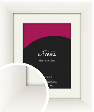 Arc High Gloss White Picture Frame & Mount, 6x8