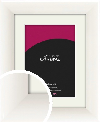 Arc High Gloss White Picture Frame & Mount (VRMP-742-M)