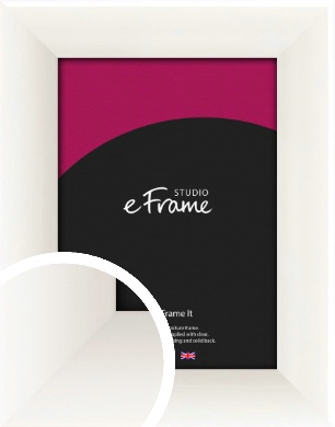 Arc High Gloss White Picture Frame (VRMP-742)