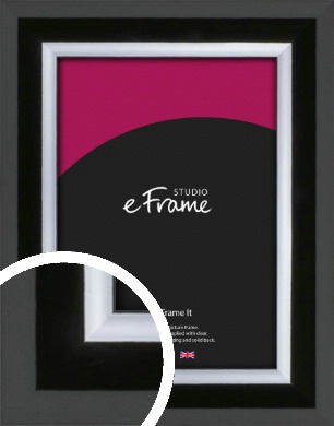 Lacquered Rounded Black Picture Frame (VRMP-1173)