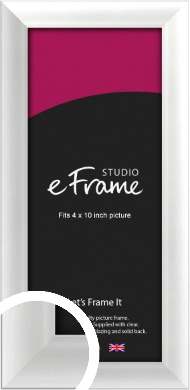 Polished Aluminium Silver Picture Frame, 4x10