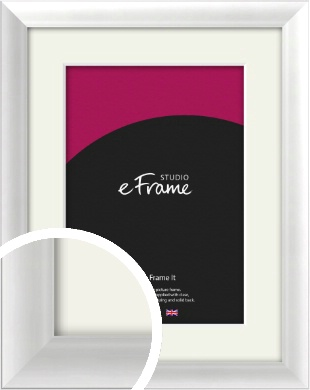 Polished Aluminium Silver Picture Frame & Mount (VRMP-A001-M)