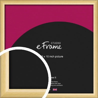 Smooth Grain Natural Wood Picture Frame, 10x10