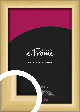 Smooth Grain Natural Wood Picture Frame, 10x15cm (4x6