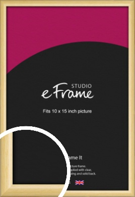 Smooth Grain Natural Wood Picture Frame, 10x15