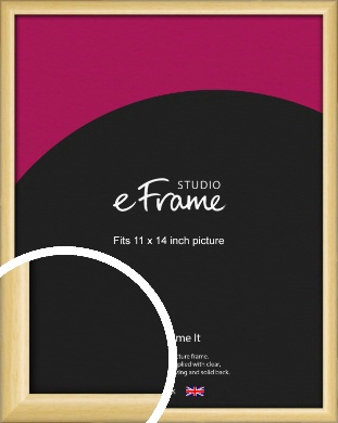 Smooth Grain Natural Wood Picture Frame, 11x14