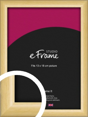 Smooth Grain Natural Wood Picture Frame, 13x18cm (5x7
