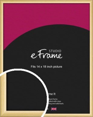 Smooth Grain Natural Wood Picture Frame, 14x18