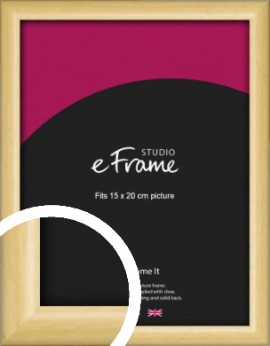 Smooth Grain Natural Wood Picture Frame, 15x20cm (6x8