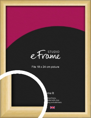 Smooth Grain Natural Wood Picture Frame, 18x24cm (VRMP-1174-18x24cm)