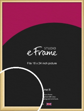 Smooth Grain Natural Wood Picture Frame, 18x24
