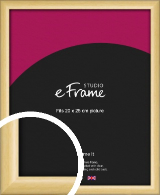 Smooth Grain Natural Wood Picture Frame, 20x25cm (8x10