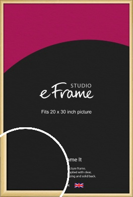 Smooth Grain Natural Wood Picture Frame, 20x30