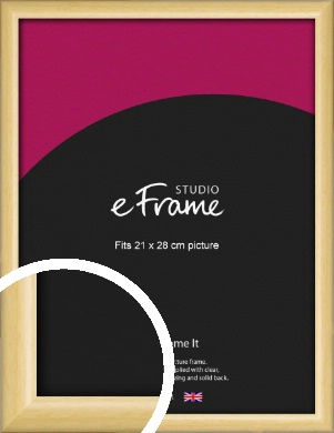 Smooth Grain Natural Wood Picture Frame, 21x28cm (VRMP-1174-21x28cm)