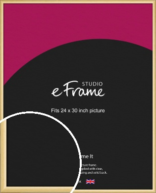 Smooth Grain Natural Wood Picture Frame, 24x30