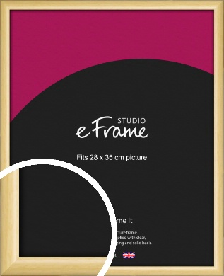 Smooth Grain Natural Wood Picture Frame, 28x35cm (VRMP-1174-28x35cm)