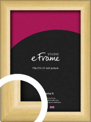 Smooth Grain Natural Wood Picture Frame, 3.5x5