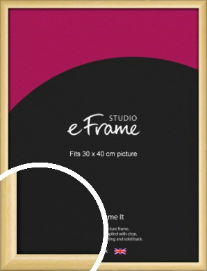Smooth Grain Natural Wood Picture Frame, 30x40cm (VRMP-1174-30x40cm)