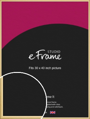 Smooth Grain Natural Wood Picture Frame, 30x40