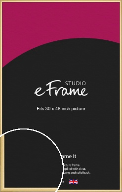 Smooth Grain Natural Wood Picture Frame, 30x48