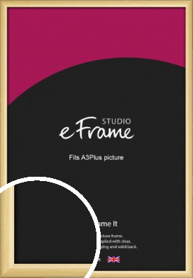 Smooth Grain Natural Wood Picture Frame, A3Plus (VRMP-1174-329x483mm)