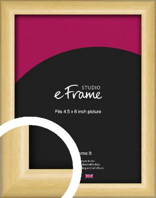 Smooth Grain Natural Wood Picture Frame, 4.5x6