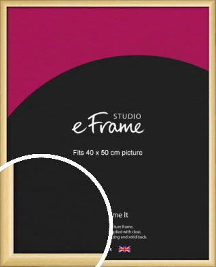Smooth Grain Natural Wood Picture Frame, 40x50cm (VRMP-1174-40x50cm)