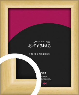 Smooth Grain Natural Wood Picture Frame, 4x5