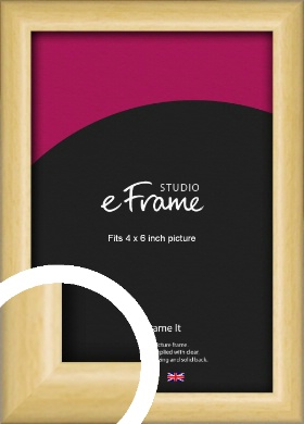 Smooth Grain Natural Wood Picture Frame, 4x6