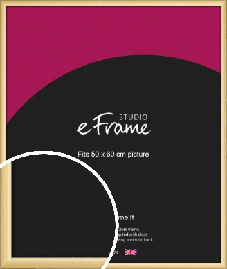 Smooth Grain Natural Wood Picture Frame, 50x60cm (VRMP-1174-50x60cm)