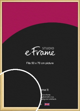 Smooth Grain Natural Wood Picture Frame, 50x70cm (VRMP-1174-50x70cm)