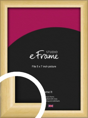 Smooth Grain Natural Wood Picture Frame, 5x7