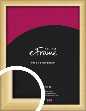 Smooth Grain Natural Wood Picture Frame, 6x8