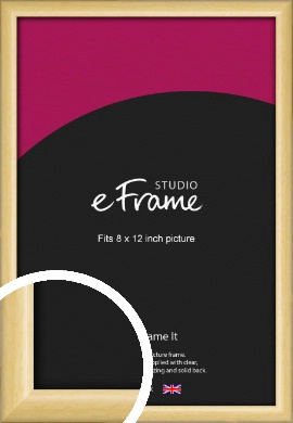 Smooth Grain Natural Wood Picture Frame, 8x12