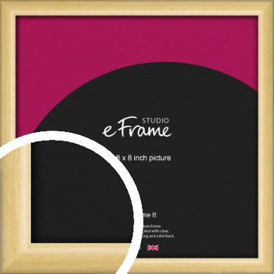Smooth Grain Natural Wood Picture Frame, 8x8