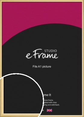 Smooth Grain Natural Wood Picture Frame, A1 (594x841mm) (VRMP-1174-A1)