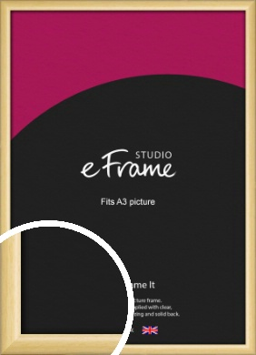 Smooth Grain Natural Wood Picture Frame, A3 (297x420mm) (VRMP-1174-A3)
