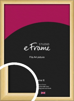 Smooth Grain Natural Wood Picture Frame, A4 (210x297mm) (VRMP-1174-A4)