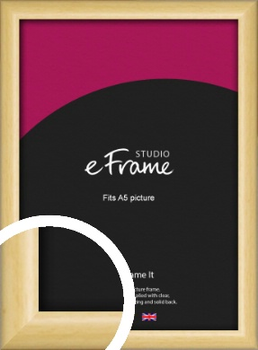 Smooth Grain Natural Wood Picture Frame, A5 (148x210mm) (VRMP-1174-A5)