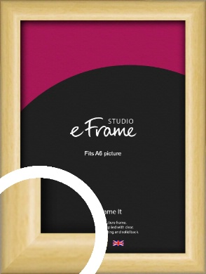 Smooth Grain Natural Wood Picture Frame, A6 (105x148mm) (VRMP-1174-A6)