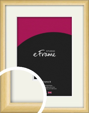 Smooth Grain Natural Wood Picture Frame & Mount (VRMP-1174-M)