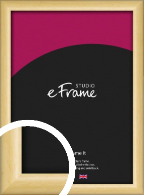 Smooth Grain Natural Wood Picture Frame (VRMP-1174)
