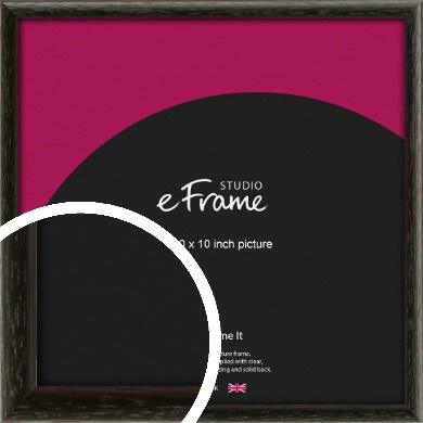 Versatile Open Grain Black Picture Frame, 10x10