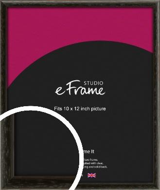 Versatile Open Grain Black Picture Frame, 10x12