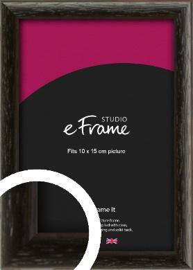 Versatile Open Grain Black Picture Frame, 10x15cm (4x6
