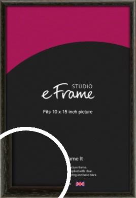 Versatile Open Grain Black Picture Frame, 10x15