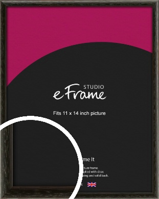 Versatile Open Grain Black Picture Frame, 11x14