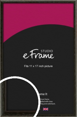 Versatile Open Grain Black Picture Frame, 11x17