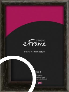 Versatile Open Grain Black Picture Frame, 13x18cm (5x7